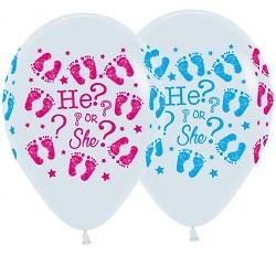 Ballonnen He or She 30 cm €0,50