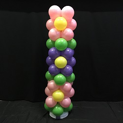 Ballonpilaar 3 Bloemen