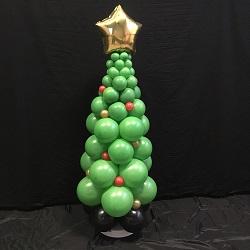 Ballonpilaar Kerstboom