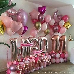 Ballon Bouquet 11 Jaar – HBD Saraya
