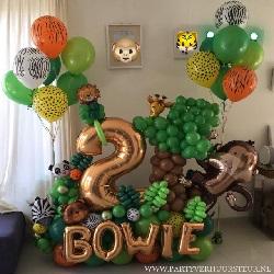 Ballon Bouquet 2 Jaar – Jungle