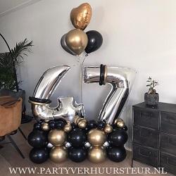 Bouquet 47 jaar zwart & goud Chrome