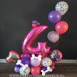 Bouquet Paw Patrol Roze-Paars-Lila