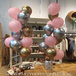 Bouquet Trossen Roze – Zilver Chrome – Goud Chrome