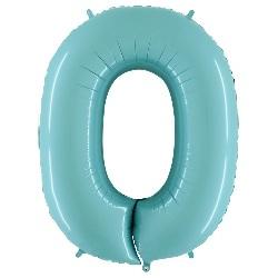 Folie Cijferballonnen 100 cm 0 t/m 9 Lichtblauw €5,95