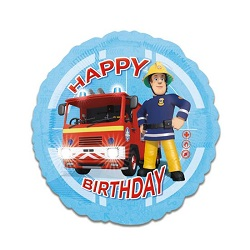 Folieballon Brandweerman Sam HBD €4,50