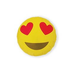 Folieballon Emoji Heart Eyes