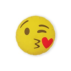 Folieballon Emoji Kissing Heart