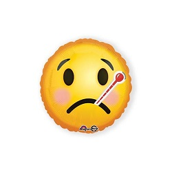 Folieballon Emoticon Get Well €2,95