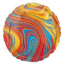 Folieballon Marblez Rond Multi 43 cm €3,25