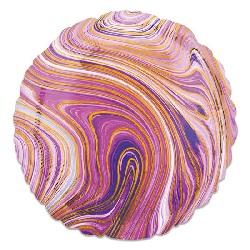 Folieballon Marblez Rond Paars 43 cm €3,25
