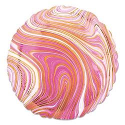 Folieballon Marblez Rond Roze 43 cm €3,25