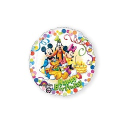 Folieballon Mickey & friends HBD €4,50