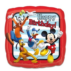 Folieballon Mickey roadster 'HBD'