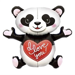 Folieballon Panda 109cm I Love You