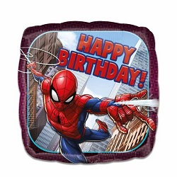 Folieballon Spiderman HBD vierkant €4,50