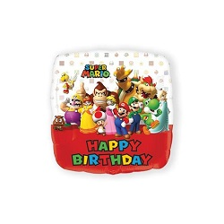 Folieballon Super Mario Bros HBD €4,50