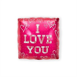 Folieballon Vierkant I Love You €2,95