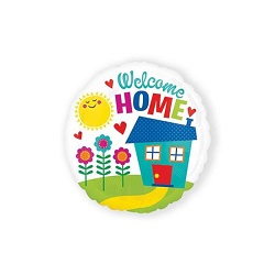 Folieballon Welcome home rond €3,95