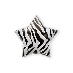 Folieballon Black Zebra Stripe 56 cm €2,95