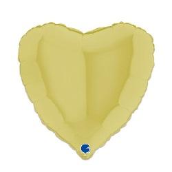 Folieballon Hart Mat Geel 46 cm €2,95