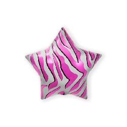 Folieballon Pink Zebra Stripe 56 cm €2,95