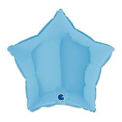 Folieballon Ster Mat Blauw 46 cm €2,95