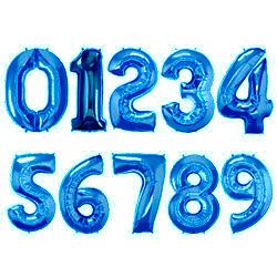 Folie Cijferballonnen Blauw cijfers 0 – 9