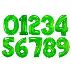 Folie Cijferballonnen Groen cijfers 0 – 9