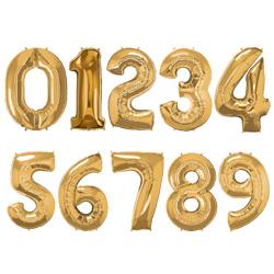 Folie Cijferballonnen Goud cijfers 0 – 9