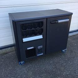 Verrijdbare koeling 1-deurs met Flessennest Links