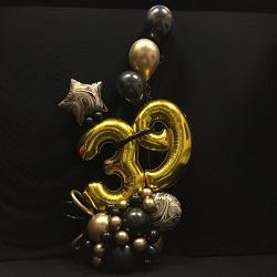 Ballonnen Bouquet Goud / Zwart