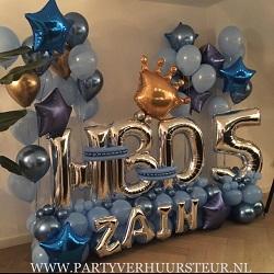 Ballonnen Bouquet HBD Naam & Cijfer
