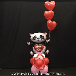Ballonnen Bouquet Panda I Love You