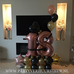 Ballonnen Bouquet Goud/Zwart/Rosegoud