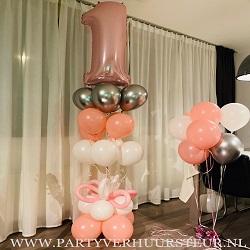 Ballonnen Bouquet Tros Lichtroze & Wit