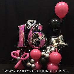 Ballonnen Bouquet Sweet 16