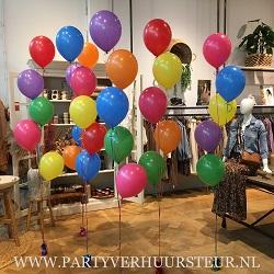 Bouquet Trossen gemixte kleuren Heliumballonnen
