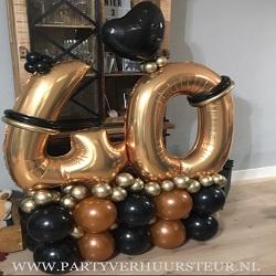 Bouquet 40 Jaar Goud / Koper / Zwart