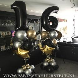 Bouquet Trossen 16 Jaar Goud & Zilver Reflex / Zwart