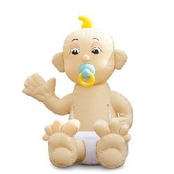 Opblaaspop Zwaaiende Zittende Baby 3,2m €25,00