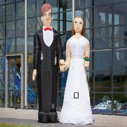 Opblaasbaar Bruidspaar