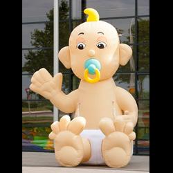 Opblaaspop Zwaaiende zittende baby