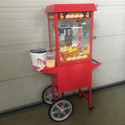 Popcornmachine op Kar
