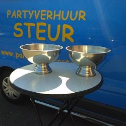 RVS  Schaal / Champagnekoeler