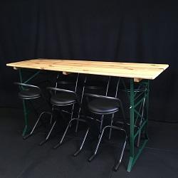 Sta-Biertafel + 6 Barkrukken set
