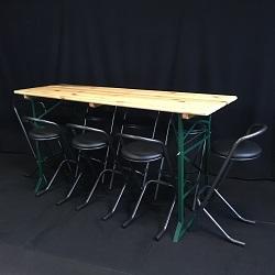 Sta-Biertafel + 8 Barkrukken set