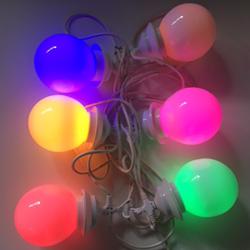 6 grote bollen met gekleurde LED-lampen