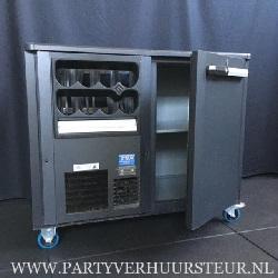 Verrijdbare koeling GAMKO 1-Deurs met Flessennest Links (Zwart) €25,00