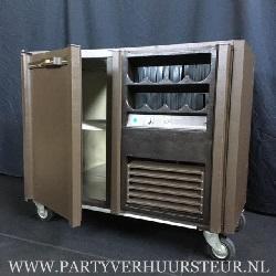 Verrijdbare koeling 1-Deurs met Flessennest Rechts (Bruin) €25,00